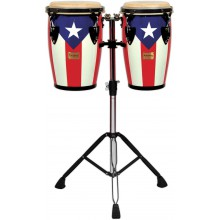 TYCOON Junior congas Puerto Rican Flag