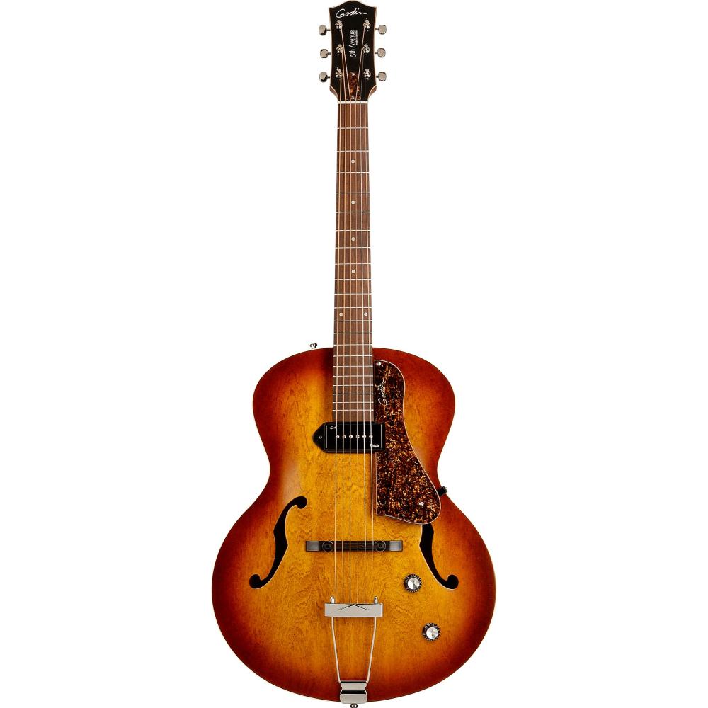 GODIN 5th Avenue Kingpin P90 Cognac Burst,Elektrické kytary,Elektrická kytara GODIN 5th Avenue Kingpin P90 Cognac Burst,1