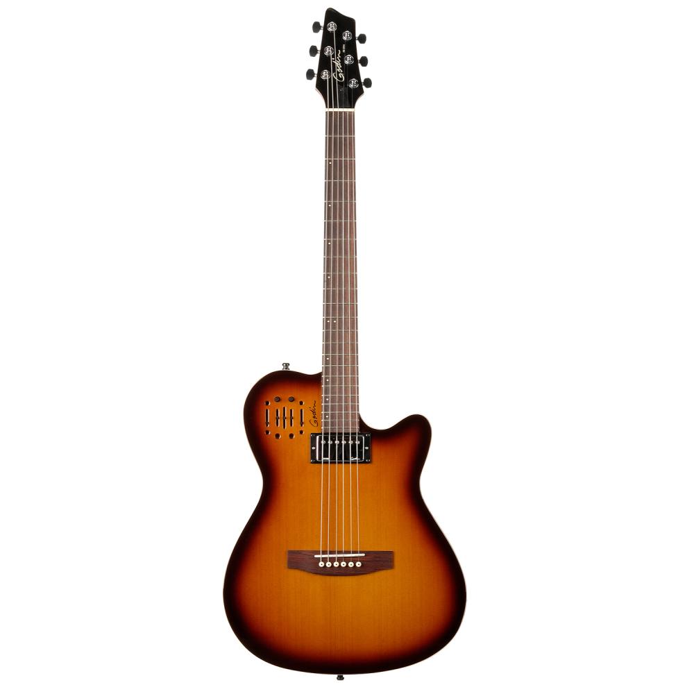 GODIN A6 Ultra Cognac Burst HG,Akustické kytary,Hybridní elektroakustická kytara GODIN A6 Ultra Cognac Burst HG,1