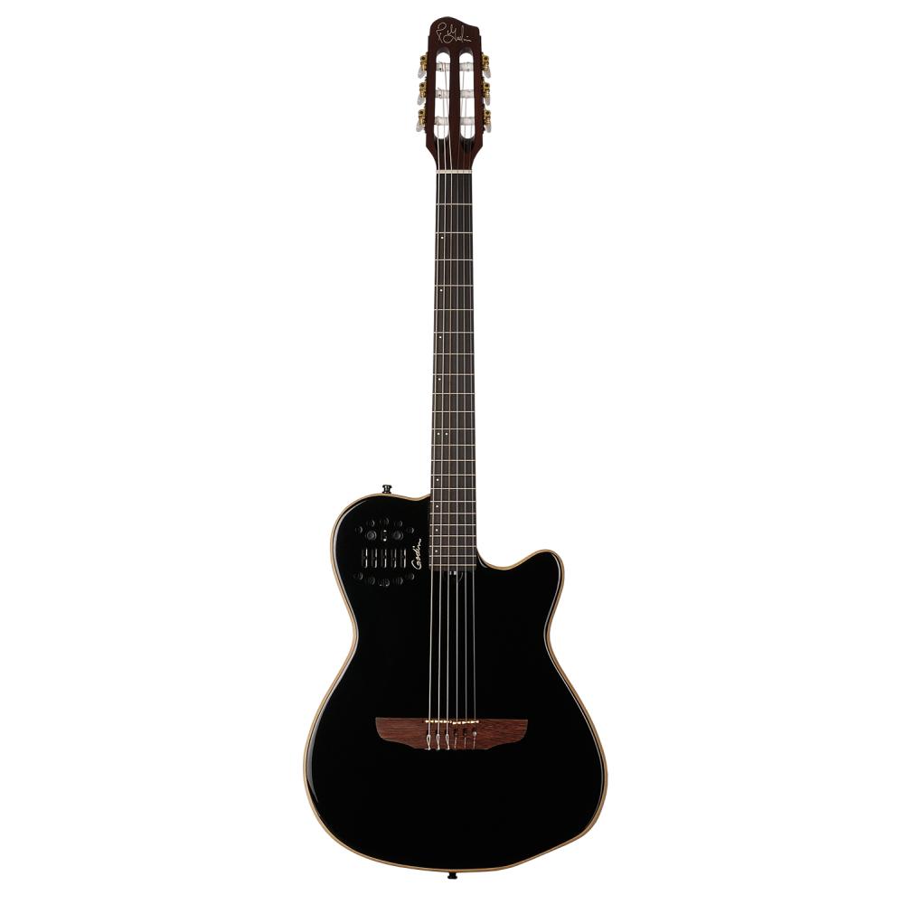 GODIN ACS-SA Nylon Black Pearl HG,Elektroakustické kytary,Elektroakustická MIDI kytara GODIN ACS-SA Nylon Black Pearl HG,1