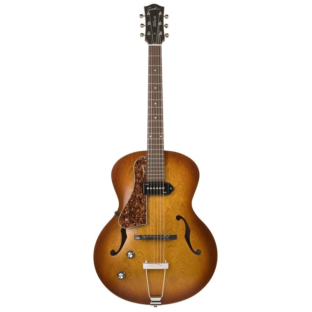 GODIN 5th Avenue LH Cognac Burst Kingpin P90,Elektrické kytary,Elektrická kytara GODIN 5th Avenue LH Cognac Burst Kingpin P90,1