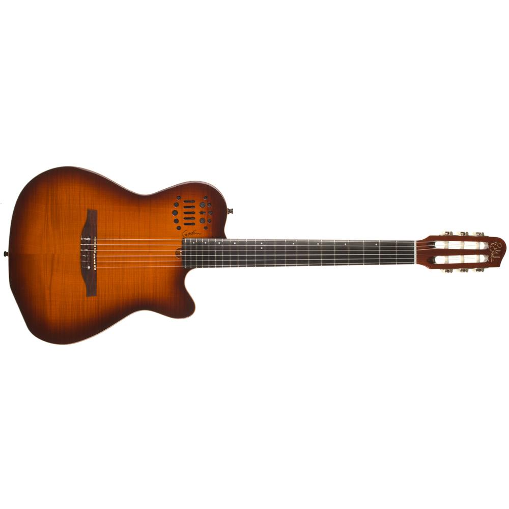GODIN ACS-SA Lightburst Flame HG,Elektroakustické kytary,Elektroakustická MIDI kytara GODIN ACS-SA Lightburst Flame HG,1