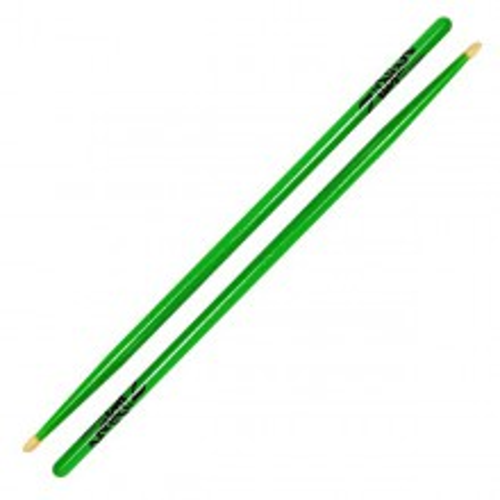 ZILDJIAN 5A Acorn Wood Neon Green