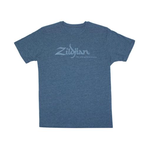 ZILDJIAN Heathered Blue Tee Shirt Medium