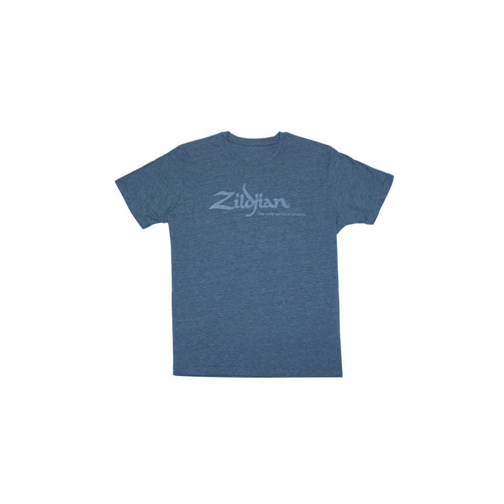 ZILDJIAN Heathered Blue Tee Shirt Large