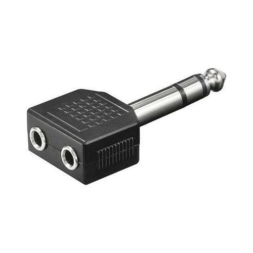 Slučovač 2x jack 6,3/stereo jack 6,3