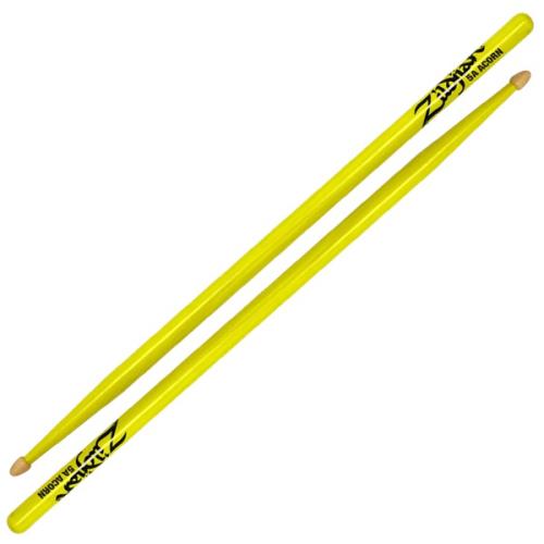 ZILDJIAN 5A Acorn Wood Neon Yellow