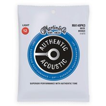 MARTIN Authentic SP 80/20 Bronze Light - 3 Packs