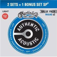 MARTIN Authentic SP 92/8 Phosphor Bronze Light - Limited 3 Packs