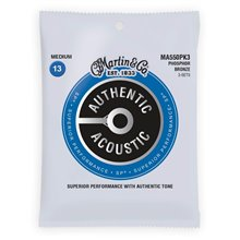 MARTIN Authentic SP 92/8 Phosphor Bronze Medium - 3 Packs