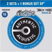 MARTIN Authentic SP 92/8 Phosphor Bronze Medium - Limited 3 Packs