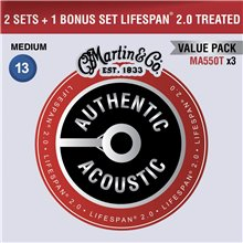 MARTIN Authentic Lifespan 2.0 92/8 Phosphor Bronze Medium - Limited 3 Packs