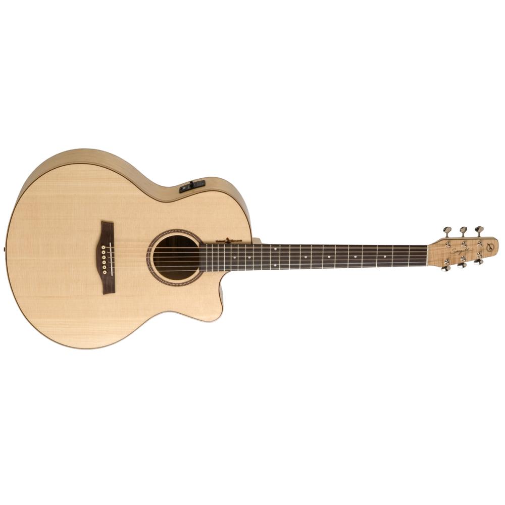 SEAGULL Amber Trail CW Mini Jumbo SG T35,Akustické kytary,Elektroakustická kytara SEAGULL Amber Trail CW Mini Jumbo SG T35,1