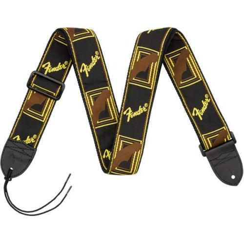 FENDER Monogramm Strap Black-Yellow-Brown