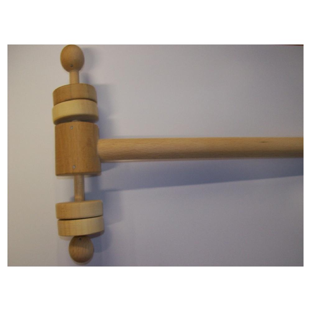 Klapáček dřevěný dvoustranný - Orffovy nástroje, brumle -  - 1