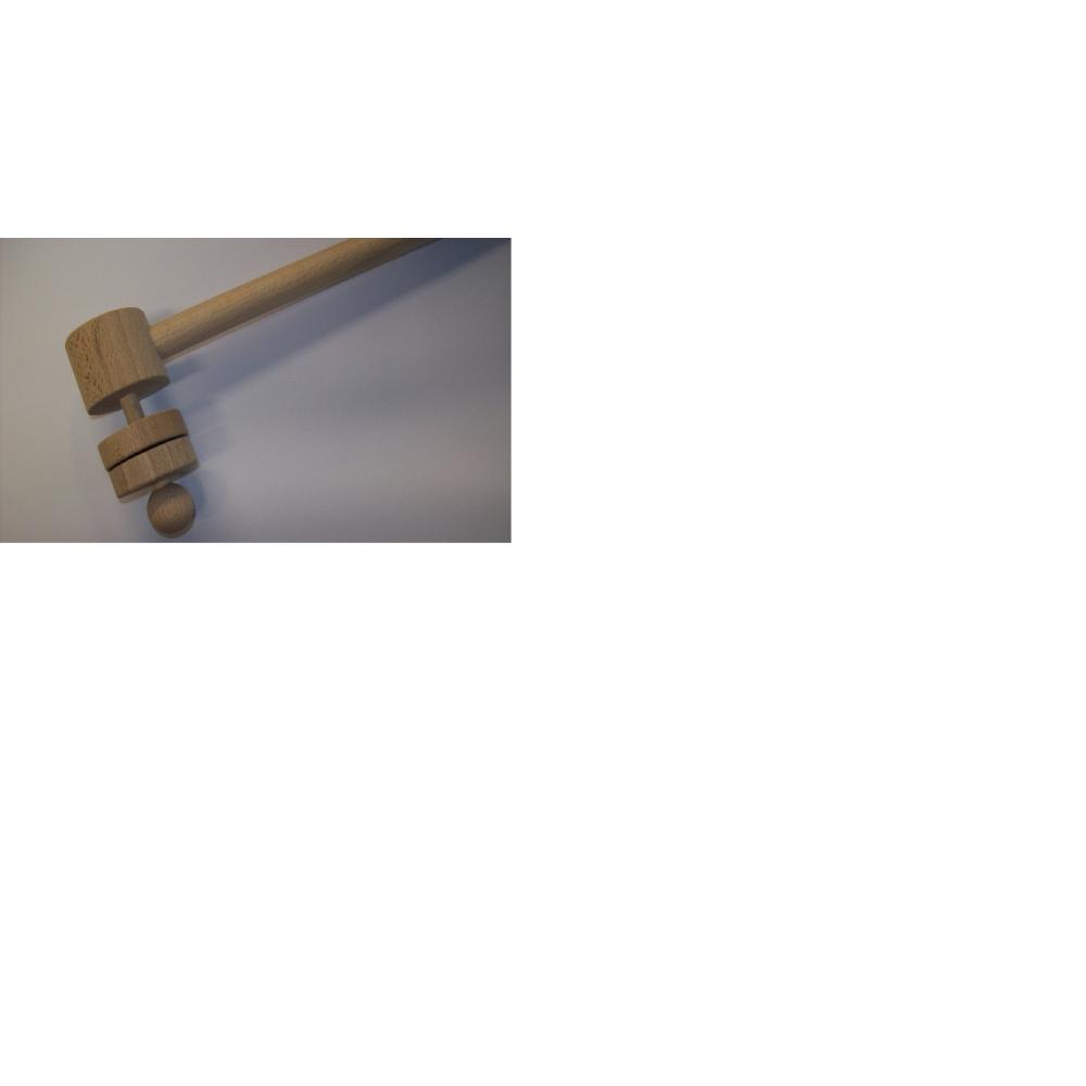 Klapáček dřevěný jednostranný - Orffovy nástroje, brumle -  - 1