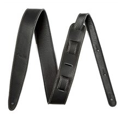 "FENDER Artisan Crafted Leather Strap 2"" Black"