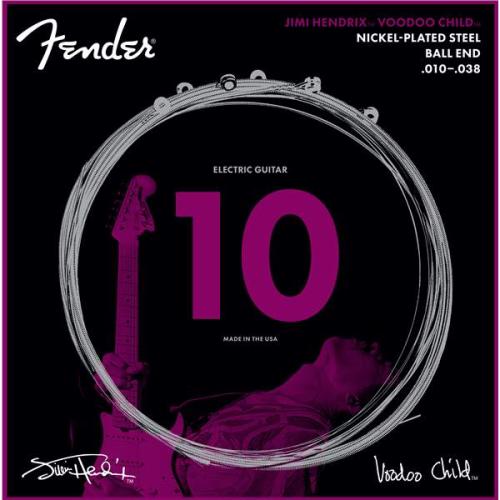 FENDER Hendrix Voodoo Child Ball End Nickel Plated Steel 10-38