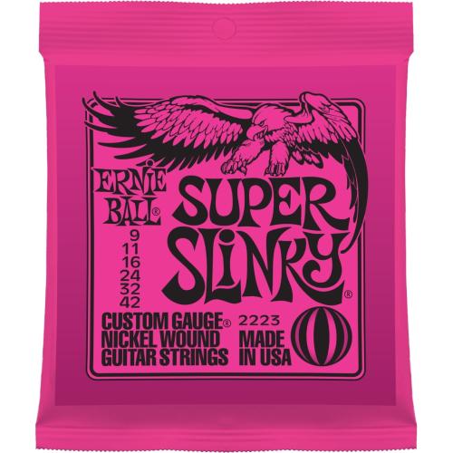 ERNIE BALL 2223 Nickel Wound Super Slinky - Tvrdost .009 - Struny pro elektrickou kytaru ERNIE BALL 2223 Nickel Wound Super Slin