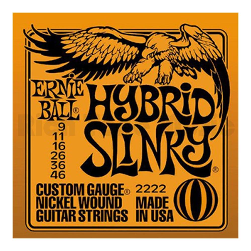 ERNIE BALL 2222 Nickel Wound Hybrid Slinky - Tvrdost .009 - Struny pro elektrickou kytaru ERNIE BALL 2222 Nickel Wound Hybrid Sl
